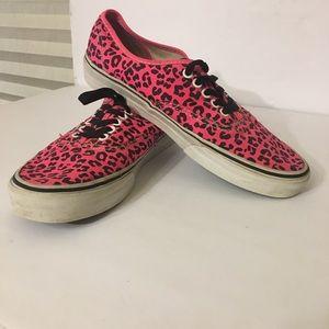 cfa1fa302c Vans Shoes - Vans Women s Neon Pink Cheetah Print Size 10